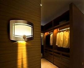 [LED Lampe Murale] OxyLED® Lampe Détecteur de Mouvement en Aluminium Sans Fil LED Murale Auto On / Off, batterie Propulsé par Couloir, Terrasse, Patio, Escalier, Jardin, Cour, Mur (T- 03)