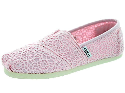 Girl's TOMS 'Classic - Crochet' Slip-On, Size 2 M - Pink