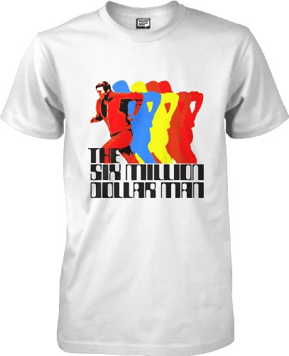 The Six Million Dollar Man - Nerdy t-shirt - white - L