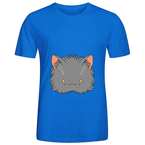 Spoopy Korat Kitty Disguise Mens Crew Neck Art Shirt Blue
