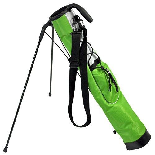 Knight Pitch And Putt Golf Lightweight Stand Carry Bag, Lime Green