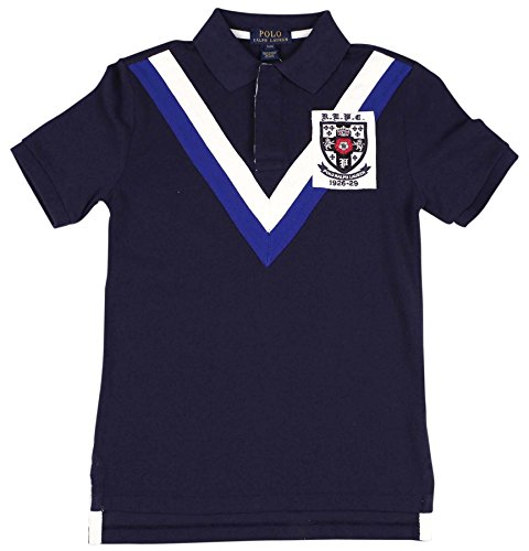 Polo Ralph Lauren Big Boys' (8-20) Mesh Crest Shield Polo Shirt-Navy Blue-8