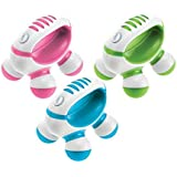Homedics PM-50 Hand Held Mini Massager with Hand Grip, Battery Operated (Color May Vary) (Pack of 3)