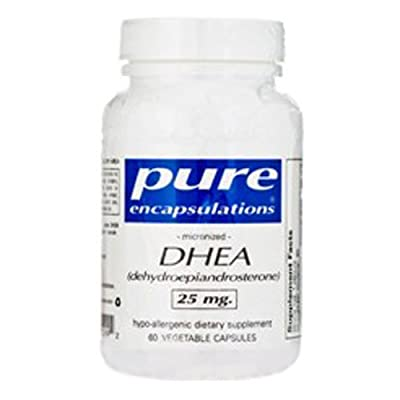 DHEA Micronized 25mg 60 VegiCaps Pure Encapsulations (海外直送品)