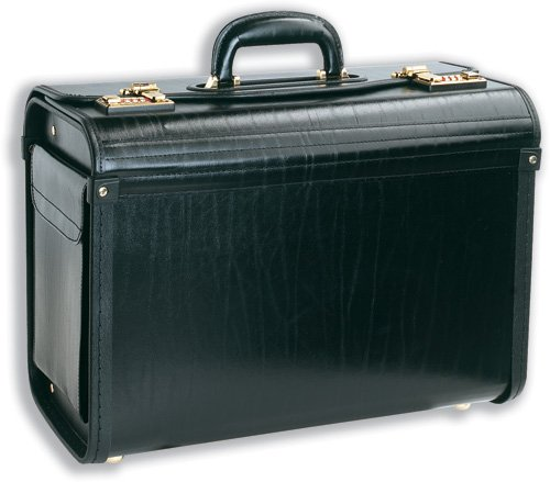 masters-pilot-case-bonded-leather-with-side-pocket-lid-mounted-organiser-w460xd200xh330mm-black-ref-