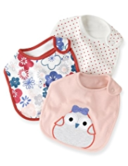 3 Pack Pure Cotton Bird & Floral Bibs
