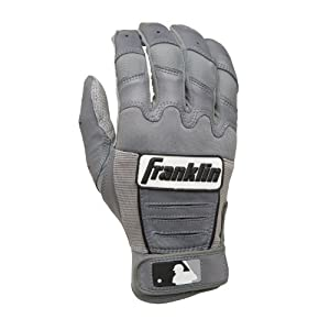 Buy Franklin Adult CFX Pro Series Batting Gloves Grey Grey Small by Franklin