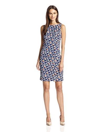 London Times Women's Sleeveless Printed Sheath Dress