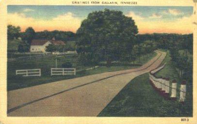 Gallatin, Tennessee Postcard