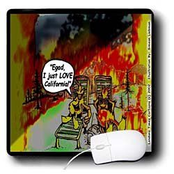Londons Times Funny Music Cartoons - HOT Vacations In California - Mouse Pads