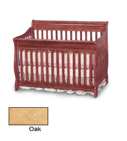 Angel Line Dela III Convertible Crib - Oak