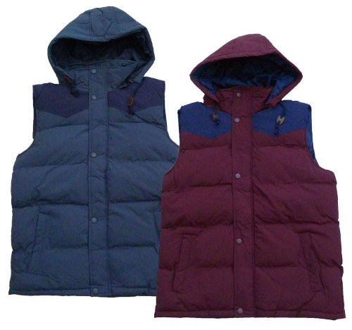 Mens Brave Soul MJK Cyber Gilet Body Warmer With Detachable Hood (Large 40
