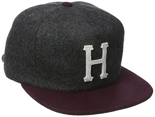 HUF Men's Wool Classic H Stapback, Charcoal/Wine, One Size (Huf Cap compare prices)