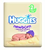 Huggies Size 2 Newborn Nappies - 3 Economy Packs x 62 Nappies (186 Nappies)
