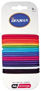 Denman - Élastiques à Cheveux - Multicolore - Couleur Arc-en-Ciel - 71015 - Pack de 18