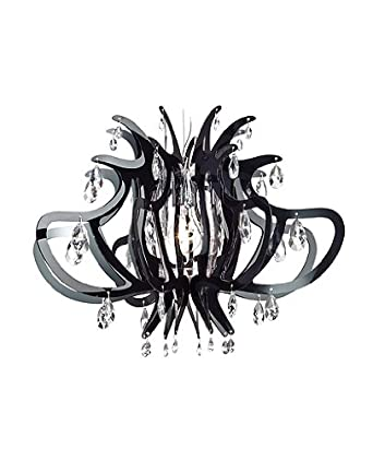 Lillibet Chandelier - black/transparent, 110 - 125V (for use in the U.S., Canada etc.)