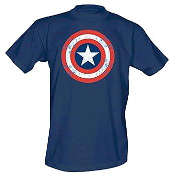 Capit n am rica camiseta con el escudo c mic de marvel - Tabla doblar camisetas ...