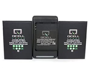 [180 days warranty] QCell® Samsung Galaxy Note 2 (ALL Models) 2 x 3200mAh Battery + Charger with USB power output (Compatible with GT-N7100, SCH-I605(verizon), SCH-R950(U.S. Cellular), SGH-I317 (AT&T) , SGH-T889 (T-Mobile), SPH-L900 (sprint), Replacement of Samsung EB595675LA Battery)