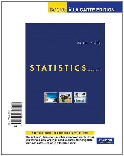 Statistics, Books a la Carte Edition (11th Edition)