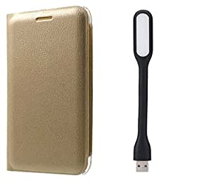 Novo Style Samsung Galaxy J5 Prime Prime Folio PU Leather Case Slim Cover with Stand+ Mini USB LED Light Adjust Angle / bendable Portable Flexible USB Light