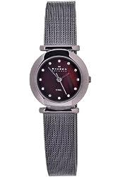 Skagen Women's 107SDDD Quartz Stainless Steel Brown Mother Of Pearl Dial Watch
