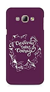 AMEZ creativity takes courage Back Cover For Samsung Galaxy A8