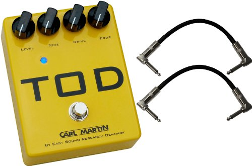 """Carl Martin Tod (Turbo Over Drive) Distortion Effects Pedal W/ (2) 6"""" Patch Cables"""
