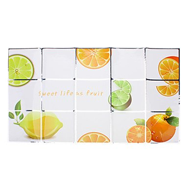 JJE75x45cm Orange Pattern Oil-Proof Water-Proof Kitchen Wall Sticker