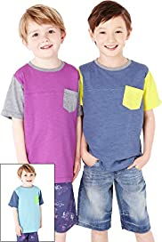 3 Pack Panelled T-Shirts