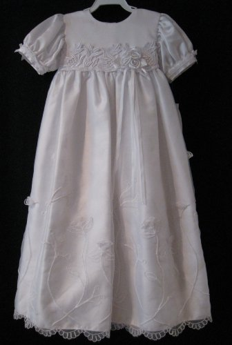 Sweet Pea & Lilli Size Med Baptismal Christening Wedding Gown And Matching Hat