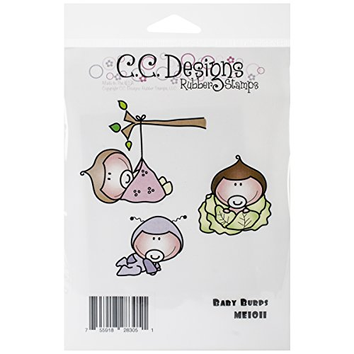 C.C. Designs Meoples Cling Stamp, 4 By 3.5-Inch, Baby Burps
