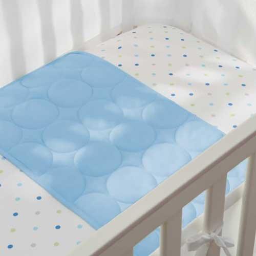 BreathableBaby Wick-Dry Plush Sheet Saver- Blue Mist - 1