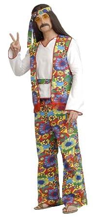 Forum Generation Hippie Hippie Dippie Costume, Rainbow, One Size