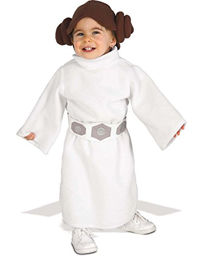 Rubie's Costume Star Wars Princess Leia Romper, White, 1-2 years