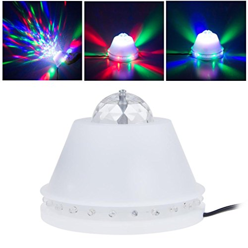 Lemonbest® New Bright Led Rgb Sun Stage Lights Automatic Color Changing Rotating Rgb Downlight Decoration Lamp 110V For Party Ktv Nightclub Bar Etc.