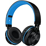 Sound Intone BT-06 Swift Bluetooth 4.0 Wireless Stereo Headphones, Noise Cancelling On Ear Headset, With Build in Microphone and Volume Control, Comes With Audio Cable, Compatible With Most Phones/ PC/ Tv/ iPhone/ Samsung/ Laptop (Blue)