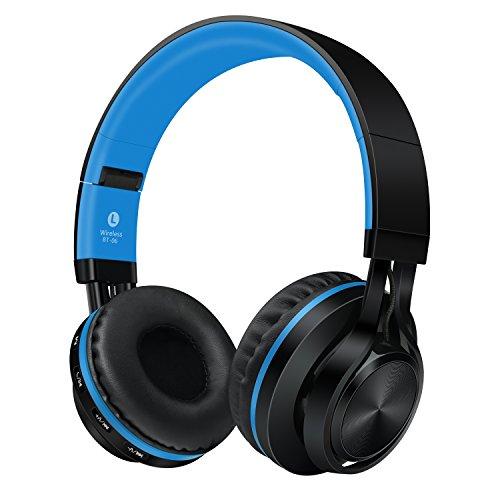 Sound Intone ブルートゥース bluetooth ヘッドホン ワイヤレス インラインマイク付き スマートホン/Pc/TV/iphone/Samsung/Laptop「ブルー」 BT-06 (blue)