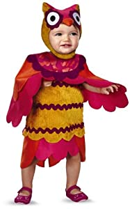 Disguise Baby's Too Cute To Spook Hoot Costume, Red/Yellow, 2T