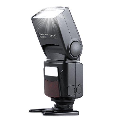 Photoolex M500 Flash Speedlite for Canon Nikon Sony Panasonic Olympus Fujifilm Pentax Sigma Minolta Leica and Other SLR Digital SLR Film SLR Cameras and Digital Cameras with single-contact Hot Shoe