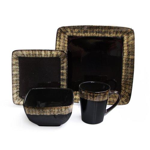 American Atelier Sedona Buff 16-Piece Dinnerware Set, Ivory