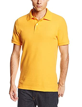 Lee Uniforms Men's Short Sleeve Polo, Gold, Small
