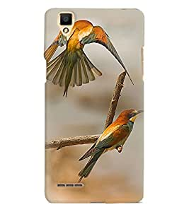 Printvisa Pair Of Love Birds Back Case Cover for Oppo F1