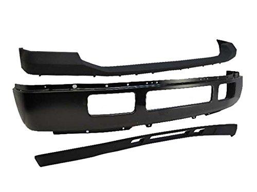2005-2007 Super Duty F250 F350 Front Bumper Blk Face Bar Upper Pad Txt Lower Valance 3pcs (05 F250 Bumper compare prices)