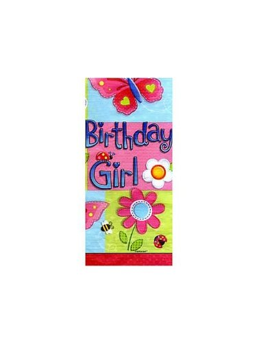 paper tablecover garden girl