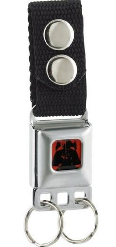 Darth Vader Face Red/Black Star Wars - Seatbelt Style Keychain (Darth Vaders Face)