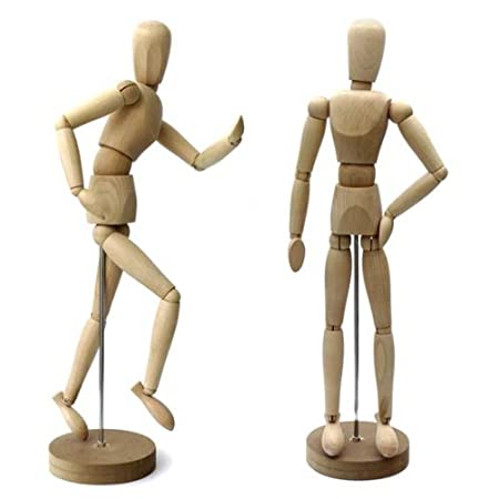 Artists Mannequin Puppet 30 cm = 11.8 inch, Solid Wood
