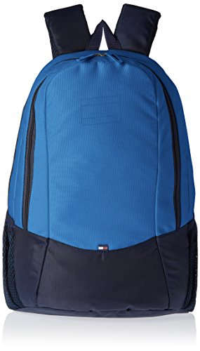 Tommy Hilfiger Jasper Polyester Blue and Navy Laptop Bagpacks (TH/JES08BP0314)