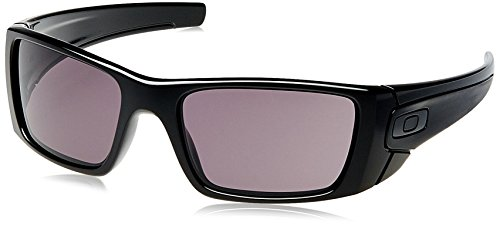 Oakley Fuel Cell Rectangular Sunglasses,Polished Black Frame/Warm Grey Lens,one size (Fuel Cell compare prices)