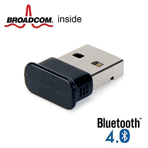 GMYLE Bluetooth Adapter Dongle, Ultra-Mini USB Broadcom BCM20702 Class 2 Bluetooth V4.0 Dual Mode Dongle Wireless Adapter with LED PackageQuantity: 1, Model: Bluetooth V4.0 Dual Mode Dongle, PC / Computer e Elettronica