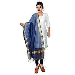 Alpna's Fabtex Blue Full Length Officewear Cotton Banarasi Dupatta